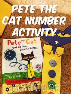 Number Activities for Toddlers | Pete the Cat | Pete the Cat and His Four Groovy Buttons | Pete the Cat Number Activity