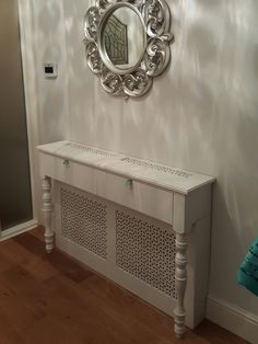 Radiator cover console table