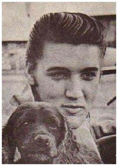 Elvis with a puppy. Both absolute cuties