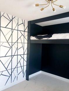 Fall 2020 One Room Challenge: Week 5-6 - Arie   Co. - Kelly Wearstler Channels Inspired DIY Wall   Built In Loft Bed