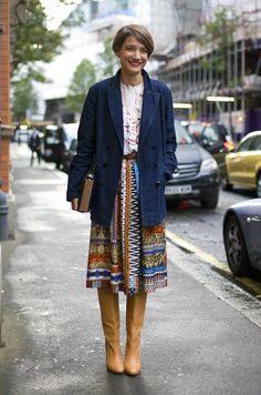 LANVIN X ACNE COAT, LONDON // etro skirt /// 3.1 phillip lim top