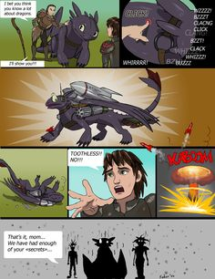 """We've had enough of your """"secrets"""". Let's just stick to Toothless's spikes popping out, k Valka? LOL"""