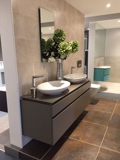 Mayflower Bathrooms Wellington. Villeroy and Boch sinks.