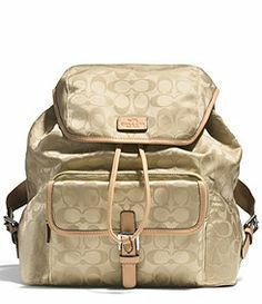 c1de2fd9773 This beautiful gold backpack is perfect for a day out on the town. Big  enough to hold our girly things 👜. Make an offer🎊💕 Coach Bags Backpacks