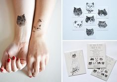 Cat-themed Temporary Tattoo Round-up