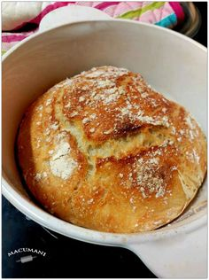 No knead bread; NYT recipe - from a Norwegian teacher in college - she would make her class baked goods on most Fridays. No Knead Bread, Pan Bread, Bread Baking, Pan Dulce, Ciabatta, Bread Recipes, Cooking Recipes, Norwegian Food, Norwegian Recipes
