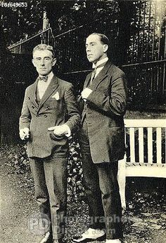 Ravel And G Jean Aubry In London 1926