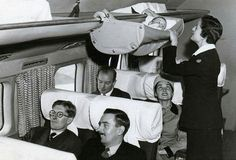 How babies traveled by plane in the 1950's.