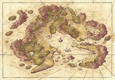 Fantasy Map Maker, Fantasy World Map, Fantasy Rpg, Dnd World Map, Island Map, Fantasy Island, Map Design, Design Ideas, Fantasy Landscape