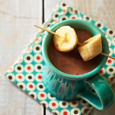 Did someone say caramelized banana hot chocolate? A drink to warm you from the inside out.