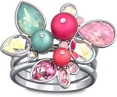SWAROSKI Adorn Neon Anillo - Fashion JewelryAdorn Neon Anillo Este anillo veraniego, chapado en paladio, muestra un toque de rosa intenso y colores claros de cristal para obtener un aire fresco y moderno. Inspirado en una flor exótica, combina a la perfección con otras creaciones coloridas.