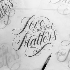 """""""Love is all that Matters"""" by @tyrsamisu  #Goodtype #StrengthInLetters"""