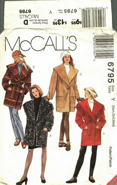 McCall/'s 4667 Misses/'//Miss Petite Jackets and Scarves  Sewing Pattern