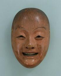Noh mask, Shōjō (a drunken sprite), one of 47 Noh masks formerly owned by Konparu Sōke (the leading family of the Konparu school), Wood, colored Muromachi-Meiji period/15-19th century Originally owned by Konparu-za Tokyo National Museum.