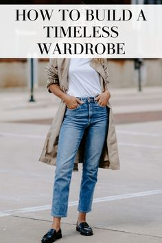 Build a timeless wardrobe that will never go out of style! - This post tells you how to build a timeless wardrobe that will never go out of style! Build A Wardrobe, Capsule Wardrobe, Fall Outfits, Fashion Outfits, Fashion Tips, Workwear Fashion, Fashion Trends, Fashion Fashion, A New York Minute