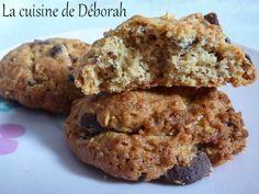 Cookies aux flocons d'avoine et chocolat, deuxième version   Cuisine de Deborah