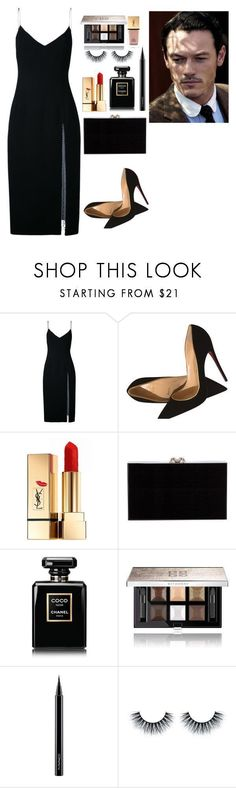 """""""City of stars ✨"""" by arianabut1993 on Polyvore featuring moda, Christopher Esber, Christian Louboutin, Yves Saint Laurent, Charlotte Olympia, Chanel, Givenchy y MAC Cosmetics #charlotteolympiaheelschristianlouboutin"""