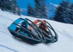 Slegoon ~Twice as fast means twice as dangerous, so they've added in some roll bars to protect you. Those bars to more than prevent you from landing head-first into the snow too. If you take a nasty turn too fast and flip, they'll act as extra runners so you can keep going.