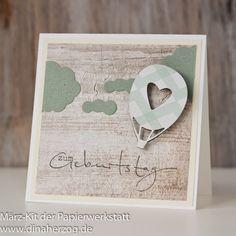 Schönes aus Papier handgemacht!: Luftiges zum Geburtstag - Magnet-Idee No.3
