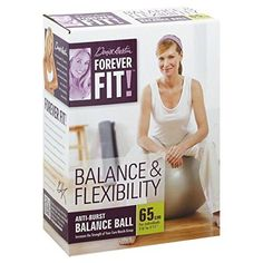 Forever Fit by Denise Austin, Anti-Burst Balance Ball, Balance & Flexibility, 65 cm 1 ball Denise Austin, Coupon Design, T Shirts With Sayings, Flexibility, Coupons, Fitness, Target, Label, Therapy
