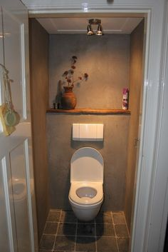 Small room, forgotten space, ignored place, and wasted a part of home but important room that is bathroom. Then in there are more important thing and useful, that is a closet toilet. In urban era toilet has been made over… Continue Reading → Small Toilet Room, Guest Toilet, New Toilet, Small Bathroom, Design Bathroom, Bathroom Ideas, Toilet Closet, Bathroom Closet, Bathroom Toilets