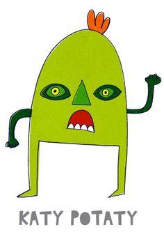 Green Monster by Katy Holmes https://twitter.com/katyholmes http://www.katypotaty.co.uk #saturdayscribbles