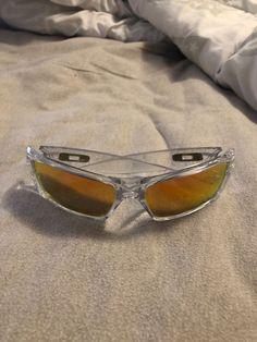 a0e2a2853418 Official Oakley Gascan clear frame chrome logo great condition barely used  #fashion #clothing #