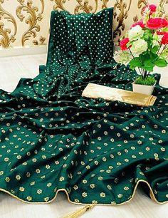 Beautiful Dola Silk Saree with Blouse piece Art Silk Sarees, Banarasi Sarees, New Fashion Saree, Online Shopping Sarees, Printed Sarees, Types Of Fashion Styles, Kids Wear, Trendy Fashion, Latest Trends