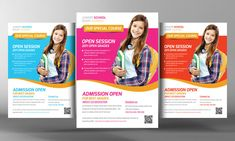 Junior School Education Flyers by Business Templates on Creative Market