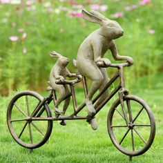 www.aspenleafmarket.comTandem Bicycle Garden Bunnies