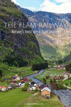 The Flåm Railway: Norway's most scenic train journey from Myrdal to Flåm in the fjords.