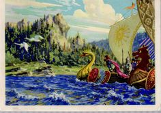 Russian postcard  vintage Fairy tale by sharonfostervintage, $6.00