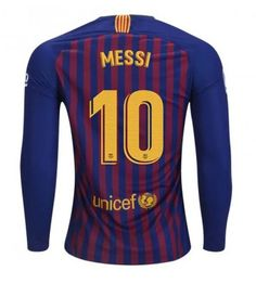 c62eb369e7e282 Barcelona Lionel Messi 10 Hjemmedrakt 18-19 Langermet