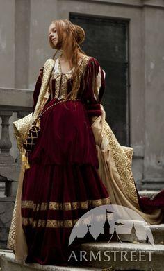 Robe en velours de noblesse de Renaissance ArmStreet