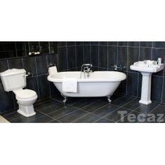 Traditional Legend Bathroom Suite With Bath/Shower Mixer