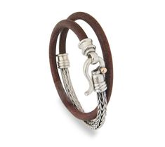 this bohemian jewelry, boho jewelry, for mens gift, and groomsmen gift, best man gift, custom bracelet, leather personalized gift, leather bracelet Combined silver bracelet hand rotates twice around 5 mm thick leather part and braided leather, the handmade braided silver the clouser is