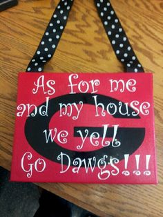 Georgia Bulldog Decorative Sign 12x12 by DesignsByCoCo1 on Etsy, $20.00 def making a nd one