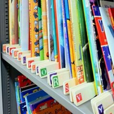 Paint Stirrers + Alphabet Stickers = One Organized Classroom Library!!