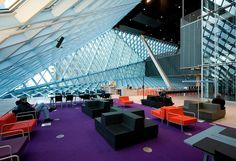 Seattle Public Library (Central Library) in Seattle, Washington, USA