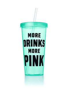 More pink drinks! Pink Water Bottle, Cute Water Bottles, Cute Cups, Tumbler Cups, Coffee Tumbler, Pink Drinks, Pink Nation, Black Girl Fashion, Pink Outfits