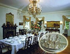 Louisiana Governors Mansion Dining Room