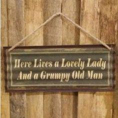 | Lovely Lady Grumpy Man Plaque - 1