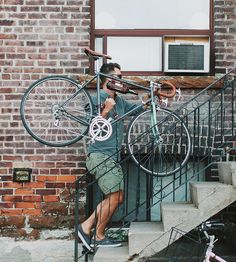 We've all been guilty of it from time to time—man handling our bicycles. This elegant solution makes carrying that bicycle frame a snap, with a manly handle in sturdy black or brown leather.