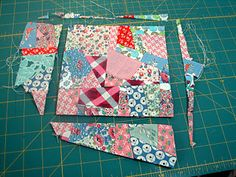 How to make a crazy quilt. Perfect for all my scraps.