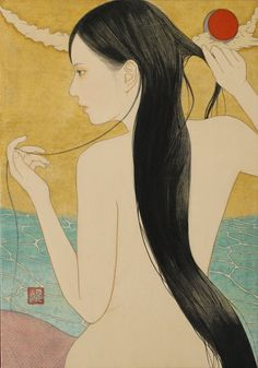 Kai Fine Art is an art website, shows painting and illustration works all over the world. Japanese Art Modern, Japanese Art Prints, Japanese Painting, Japanese Illustration, Illustration Art, Geisha Art, China Art, Japan Art, Erotic Art