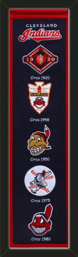 This Cleveland Indians heritage banner framed to 8 x 32 inches.  $89.99 @ ArtandMore.com