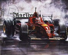 """On the Edge, Michael Schumacher, Spanish Grand Prix in 1996"" by Ian Finlayson"