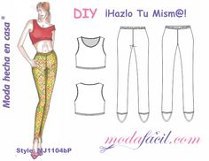 Aprende Paso a Paso Como Coser Lycra - Escuela de costuras Sewing Projects For Kids, Sewing For Kids, Patterned Leggings, Couture Sewing, Tops For Leggings, Sewing Patterns Free, Pajama Pants, Shirts, Children