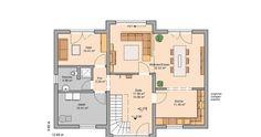 Kern-Haus Familienhaus Aura Grundriss Erdgeschoss