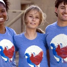 Dirty Coast Turducken T-shirt.  It's in red-white-and-blue:  very patriotic about birds :)